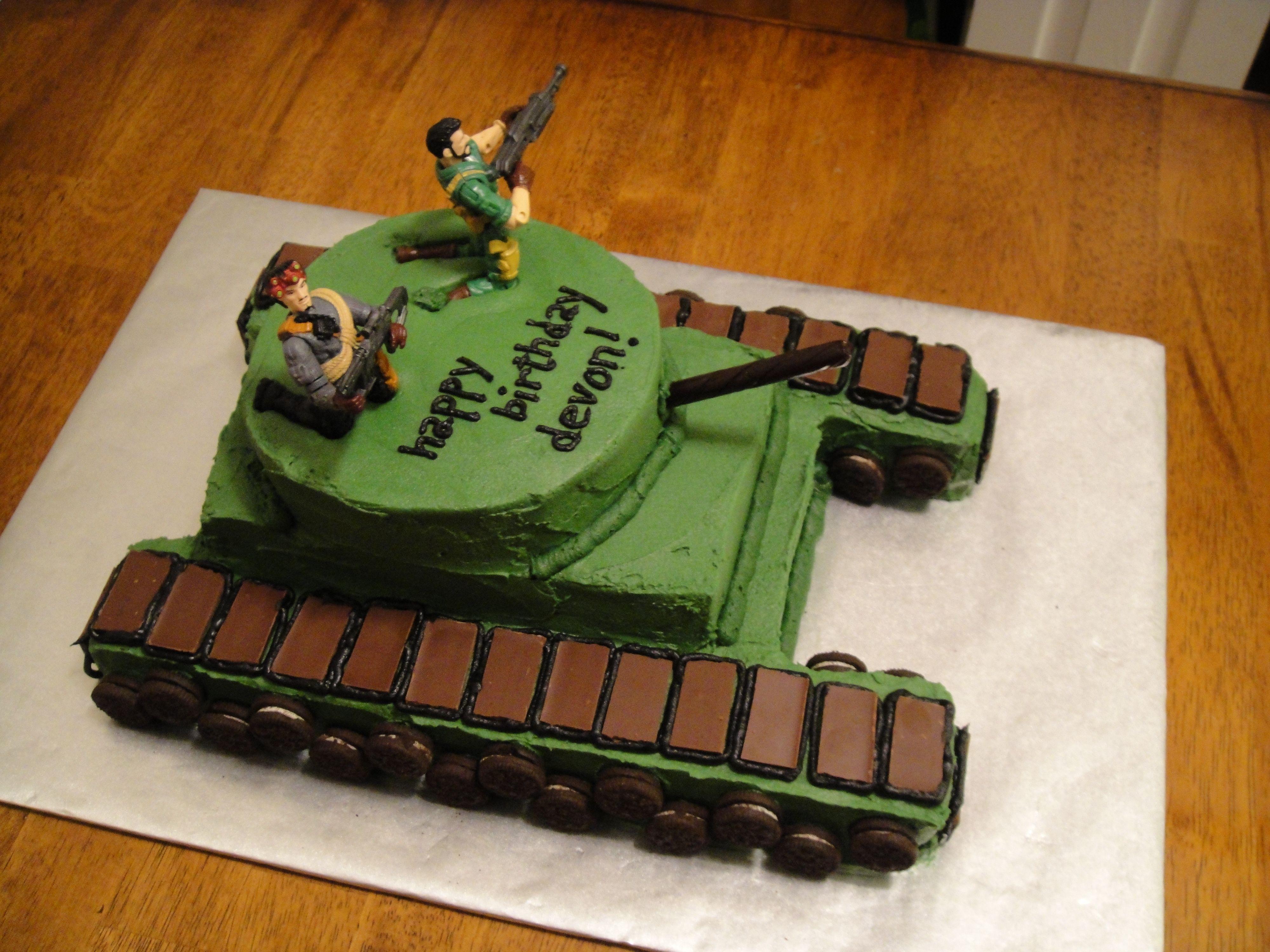 More Buttercream Birthday Fun Boy Birthday Cake Tank Cake