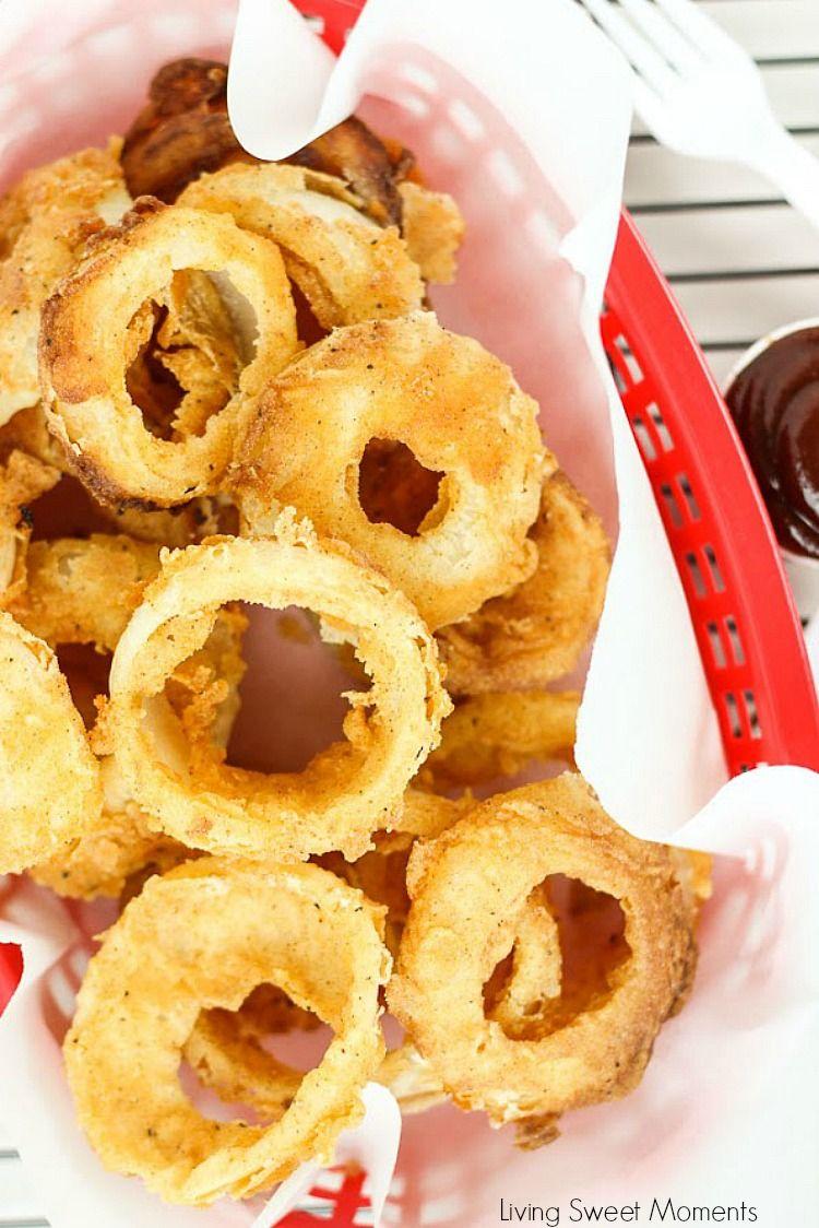 Easy Buttermilk Onion Rings Recipe Deep Fried Recipes Onion Rings Deep Fried