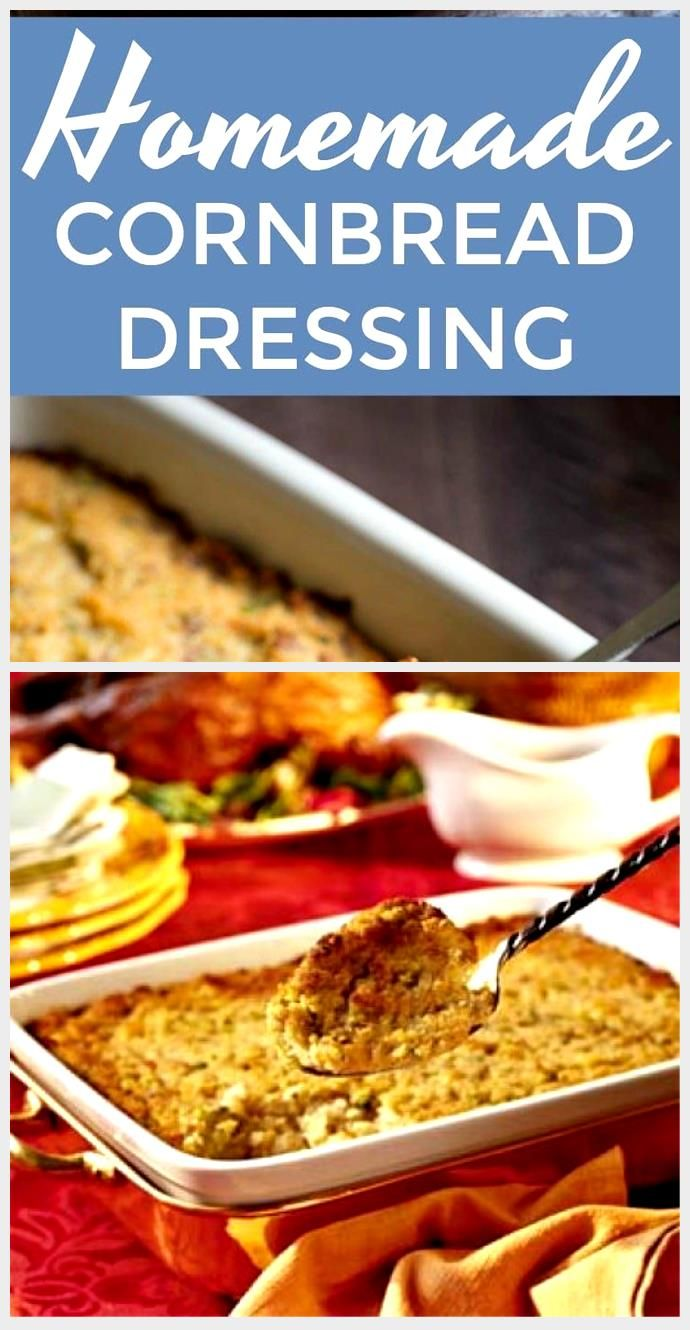#Cornbread #dressing #homemade The best homemade cornbread dressing you'll ever have ...