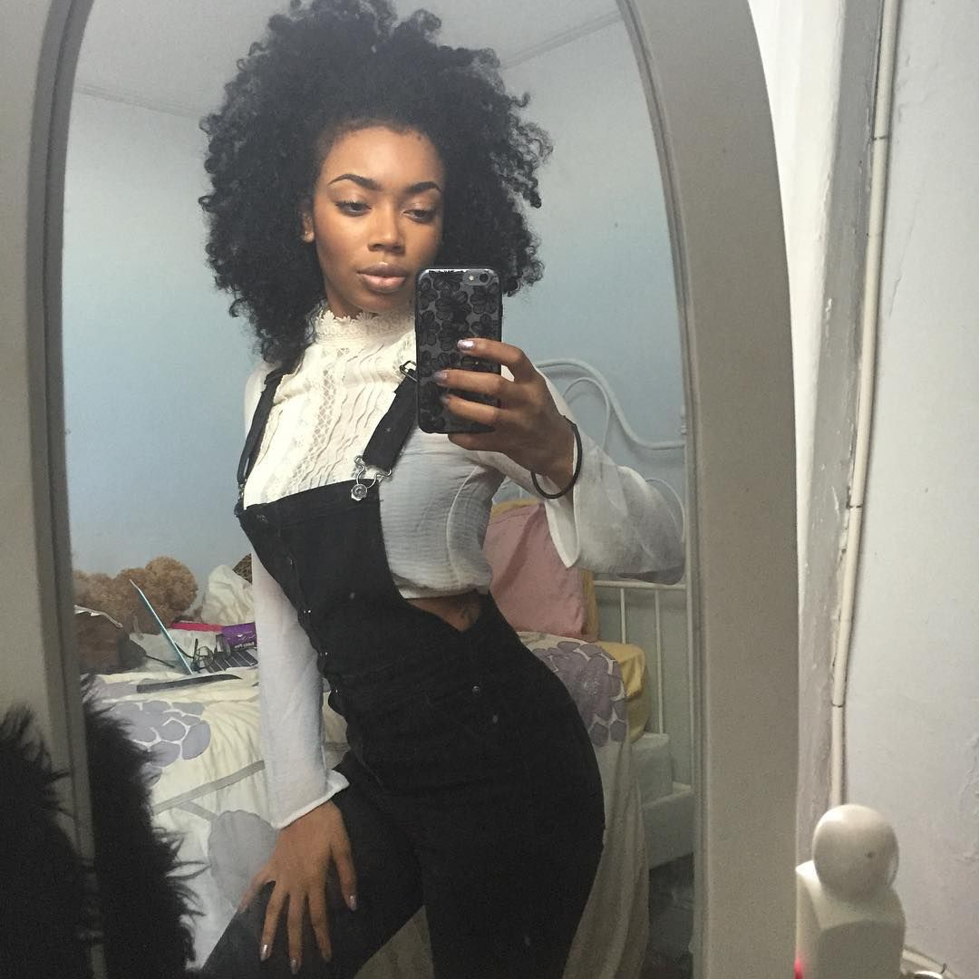 Overalls cropped top w highlace collar hair fashion outfits