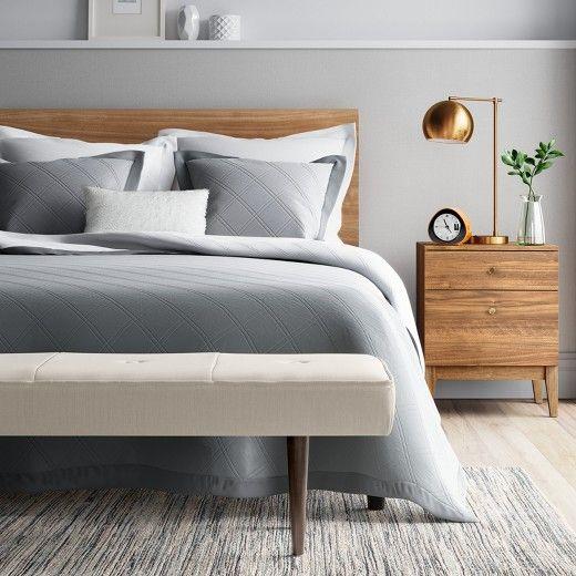 Siegel Nightstand Walnut Project 62 Loft Style Bedroom