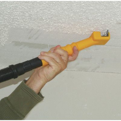 Features:  Captures Of Popcorn Ceiling Material.  Vacuums Up Paint Chips As  They Are Made.  Vacuum Slots On Both Sides Of Scraper Blade.