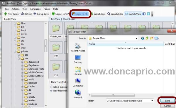 How to Copy Songs from iPhone / iPad / IPod Touch to your