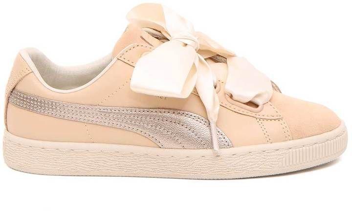 pretty nice 142d1 7a2d2 Puma Basket Heart Metallic Safari Sneakers | Products | Puma ...