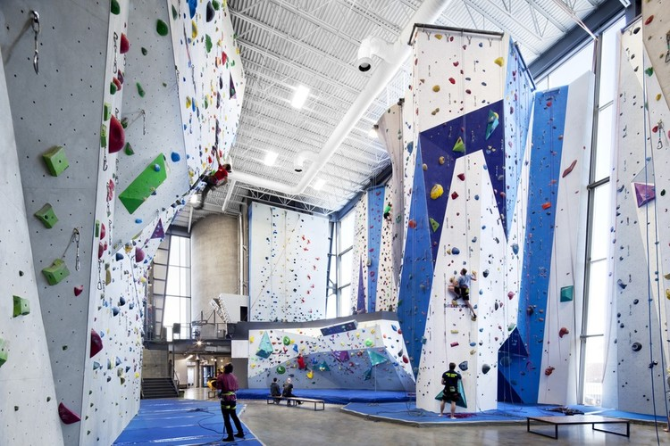 Gallery Of Allez Up Rock Climbing Gym Smith Vigeant Architectes 8 Go Up Rock Climbing Gym Smith Vi Indoor Rock Climbing Rock Climbing Gym Climbing Gym