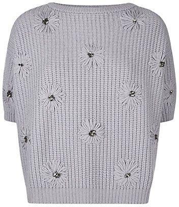 5e77b41c7215 Brunello Cucinelli Crystal Daisy Cashmere Sweater on shopstyle.co.uk ...