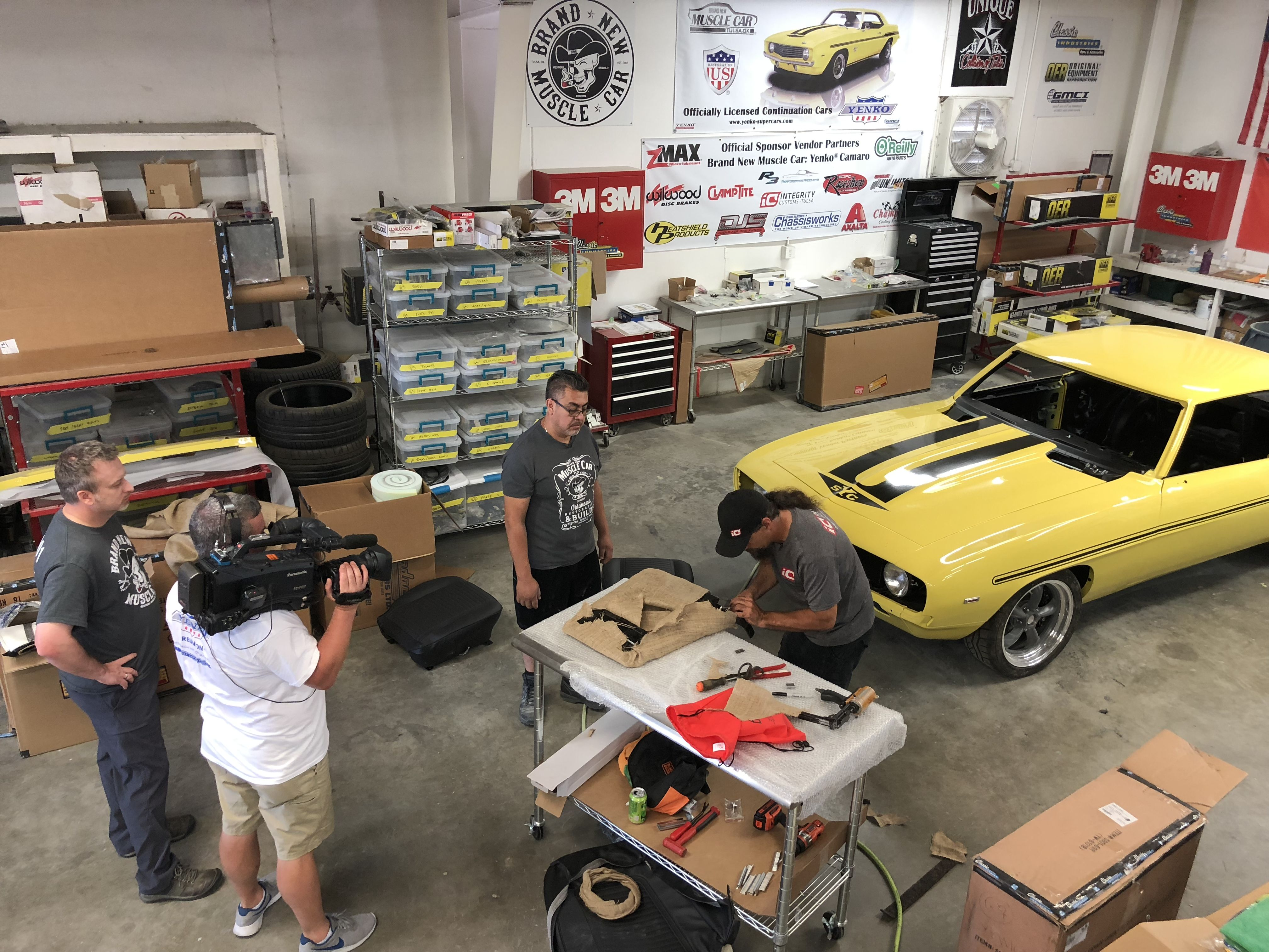 Shoot 5 Day 2 Interior Install Brand New Muscle Car Yenko R
