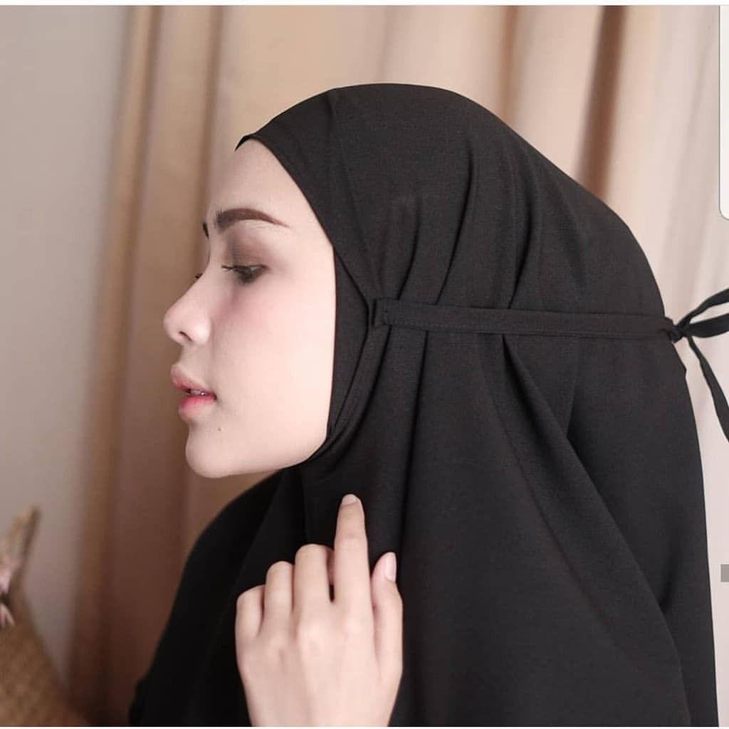 Jilbab Instan Bergo Hp Wa 082137016397 Queen Fashion Hijab Lavender Warna Hitam
