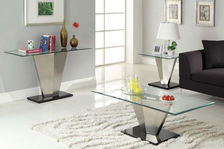 Homelegance Silverstone Cocktail Table Set Coffee Table Coffee Table Setting Glass Top Table [ 1001 x 1500 Pixel ]