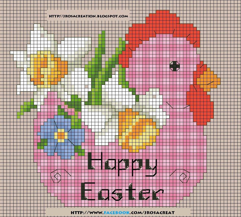Cross-stitch pattern - EASTER  http://jrosacreation.blogspot.it/2014/03/pasqua-schemi-punto-croce-gratis.html
