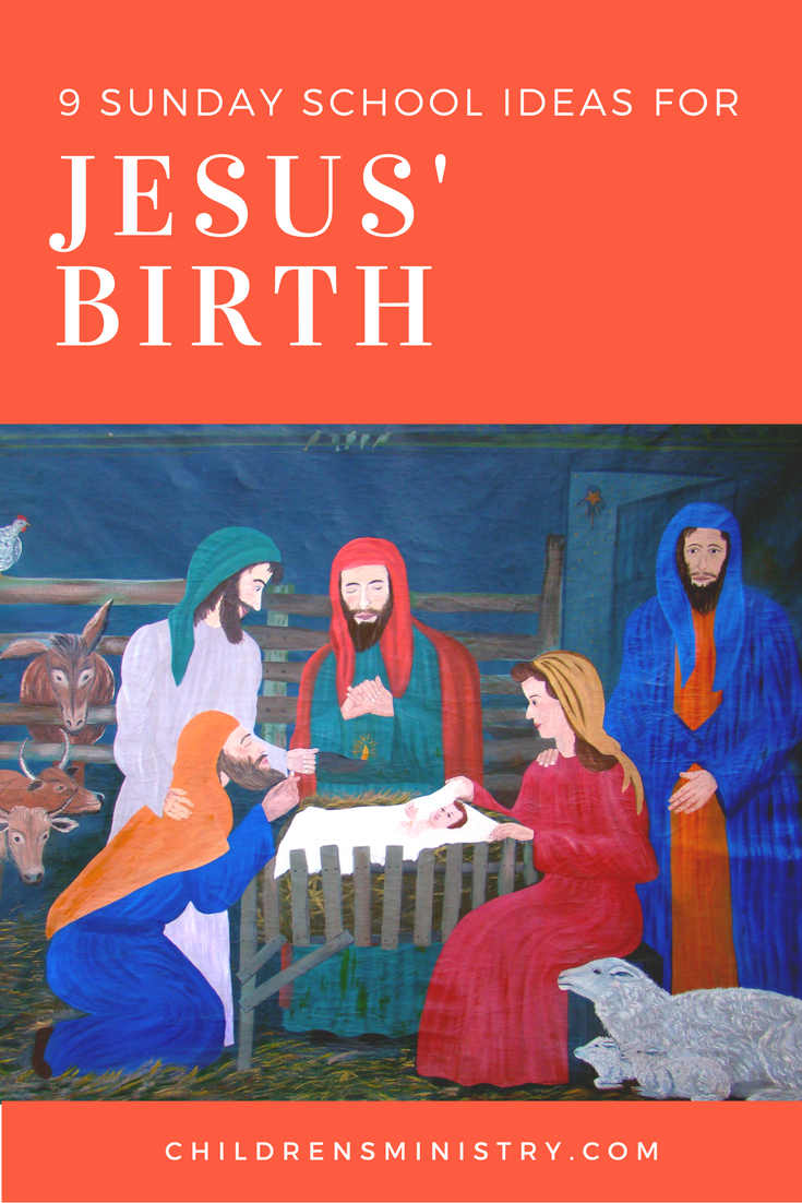 sunday lesson ideas birth of jesus sunday and