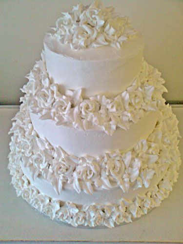 Chocolate Textured Frosting Wedding Cake