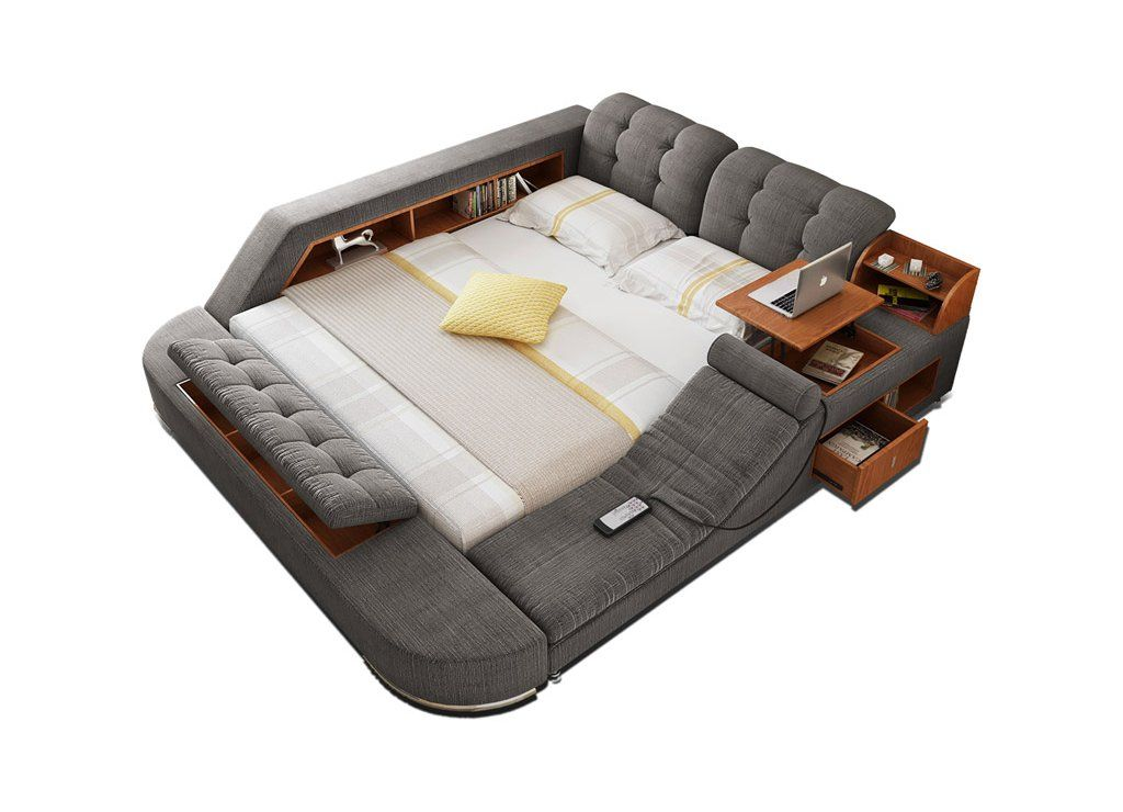 All In One Bed Full Of Gadgets Storage Modern Bed Massage Bed