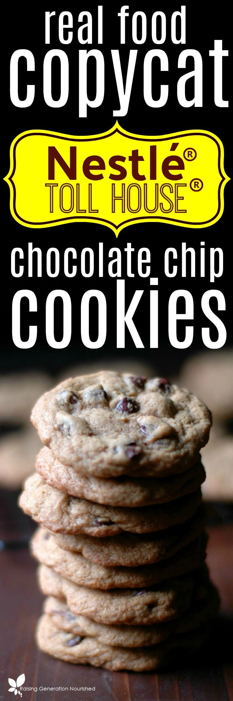 Real Food Copycat Nestle® Toll House® Cookies :: Gluten and Dairy Free Too!