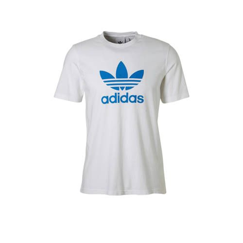 adidas originals T shirt witblauw Adidas originals