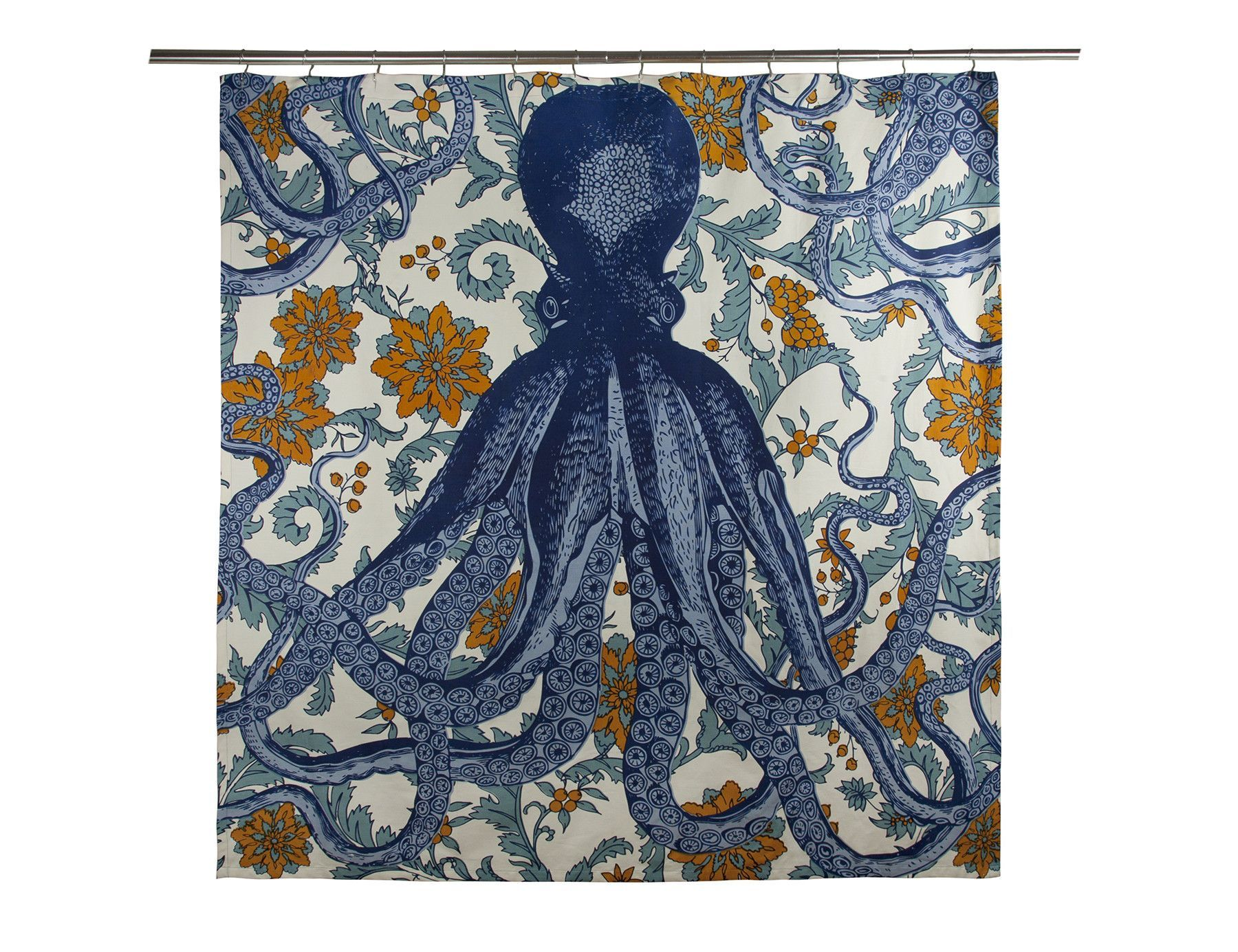Octopus Vineyard Shower Curtain Octopus Shower Curtains