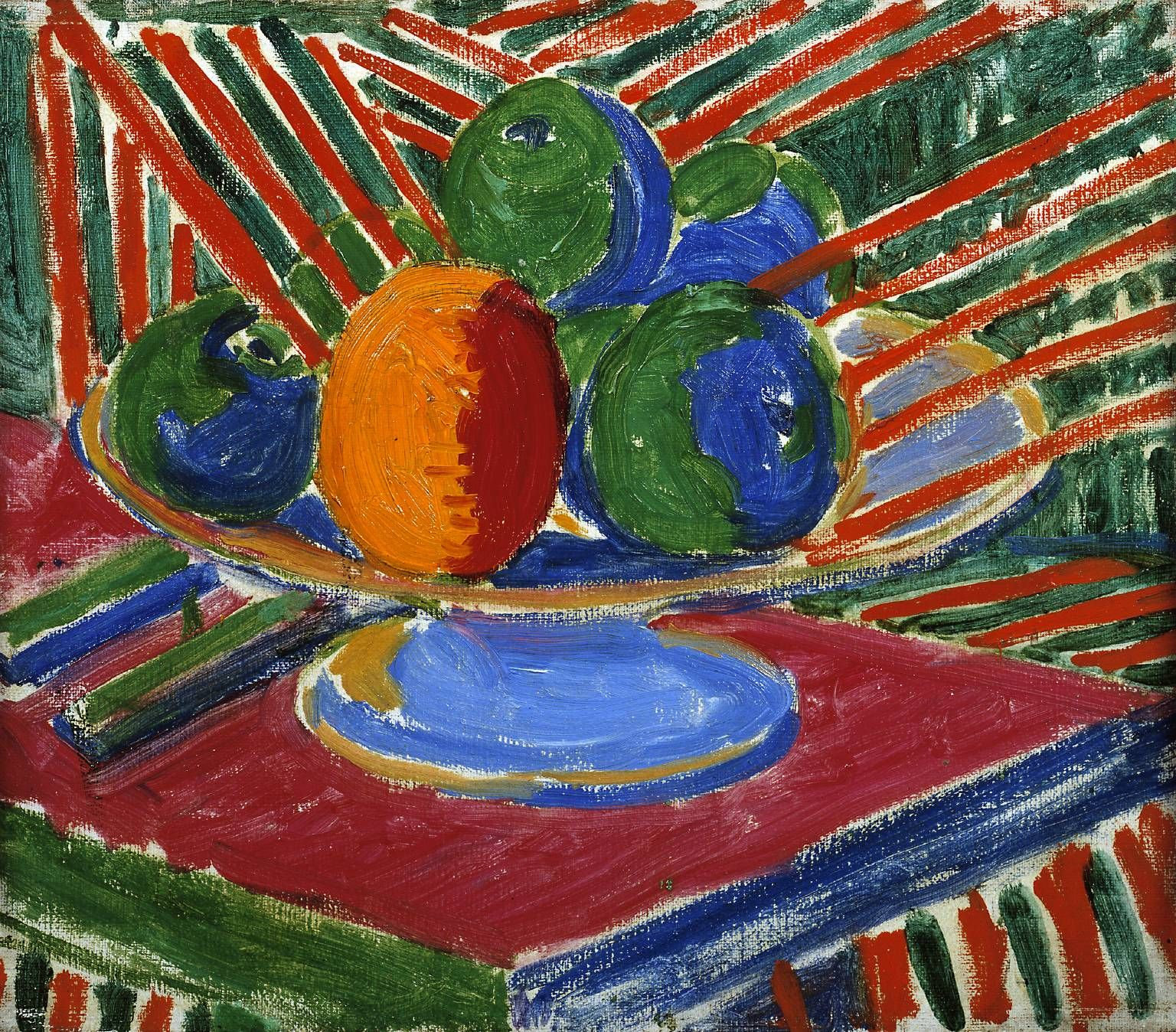 Sir Matthew Smith - Fruit in a Dish, 1915, oil on canvas