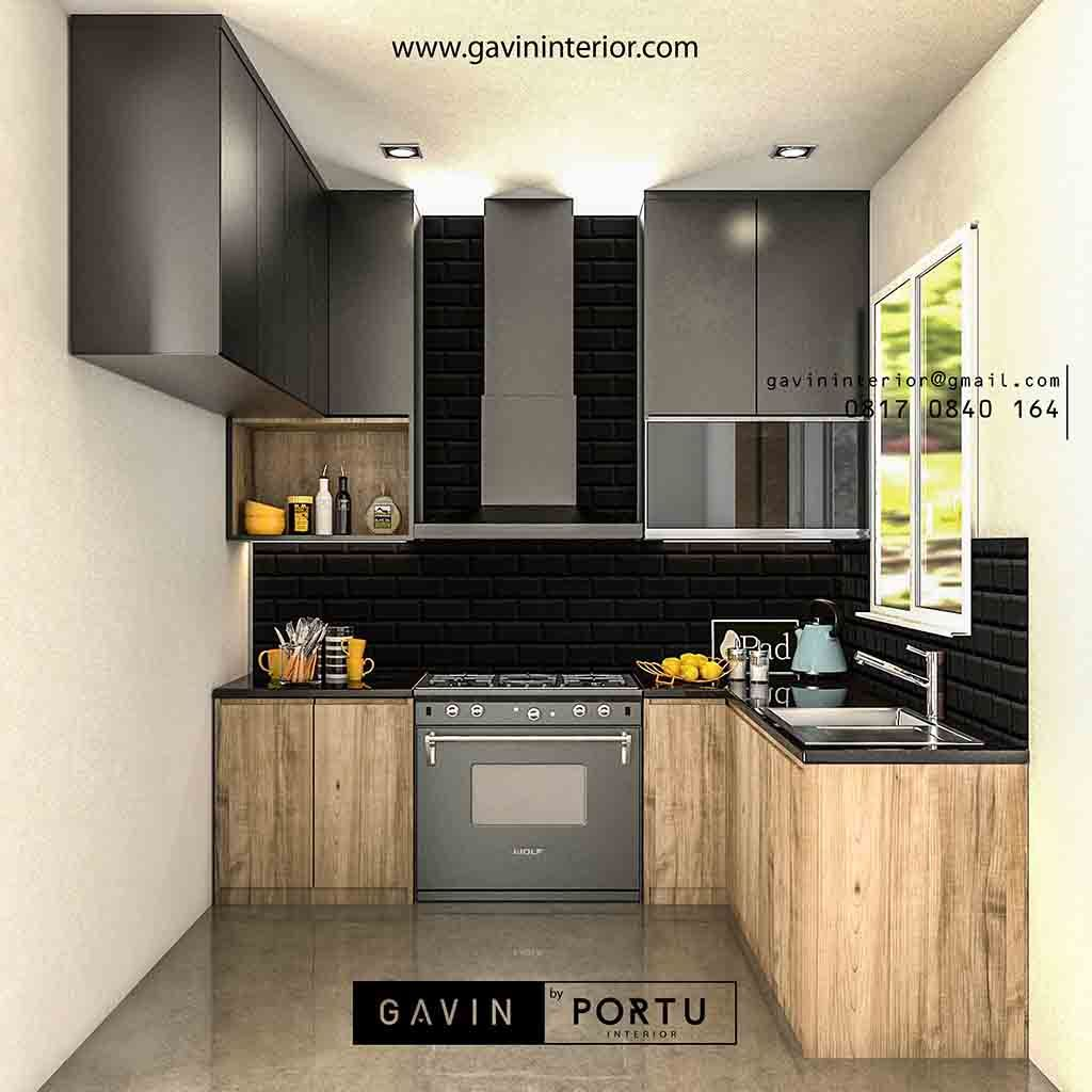 Kitchen Set Dapur Minimalis Dengan Meja Bar   Kabinet, Dapur, Kayu