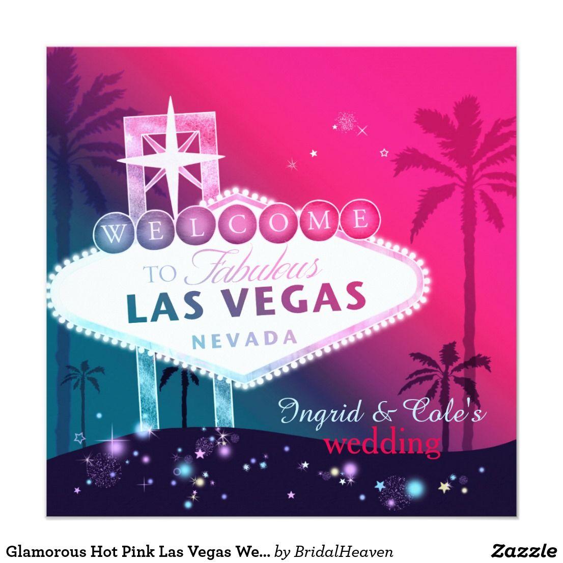Glamorous Hot Pink Las Vegas Wedding | *Destination Wedding ...