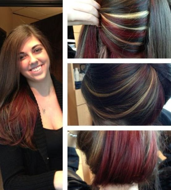 How To Do Peekaboo Highlights Peek A Boo With Images Brown