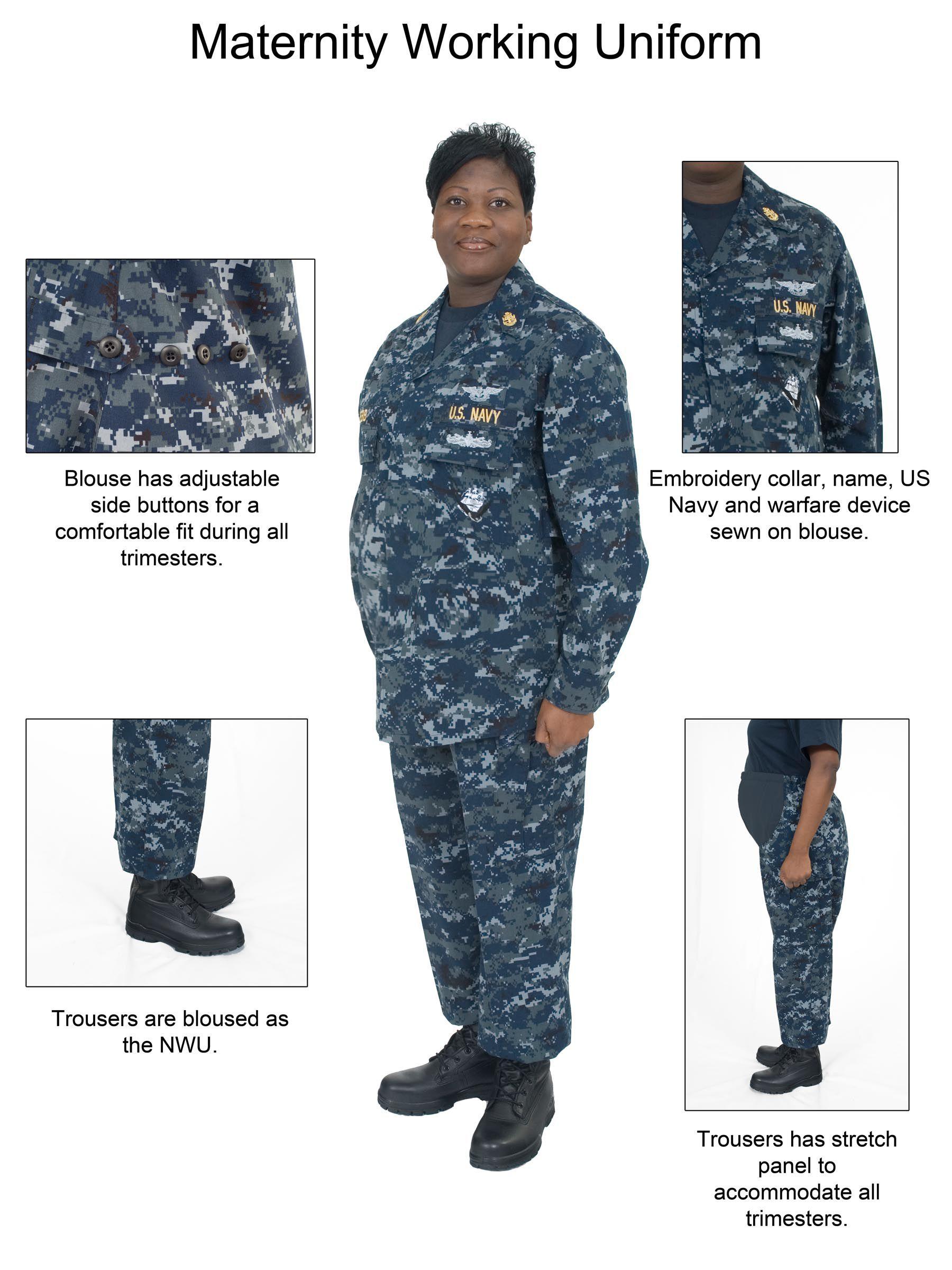 46bdcadadb51c Current-issue USN maternity working uniform... Navy Uniforms, United States  Navy