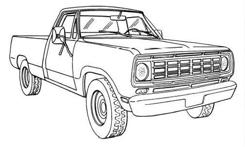Related image | Truck coloring pages, Old trucks, Cars ...