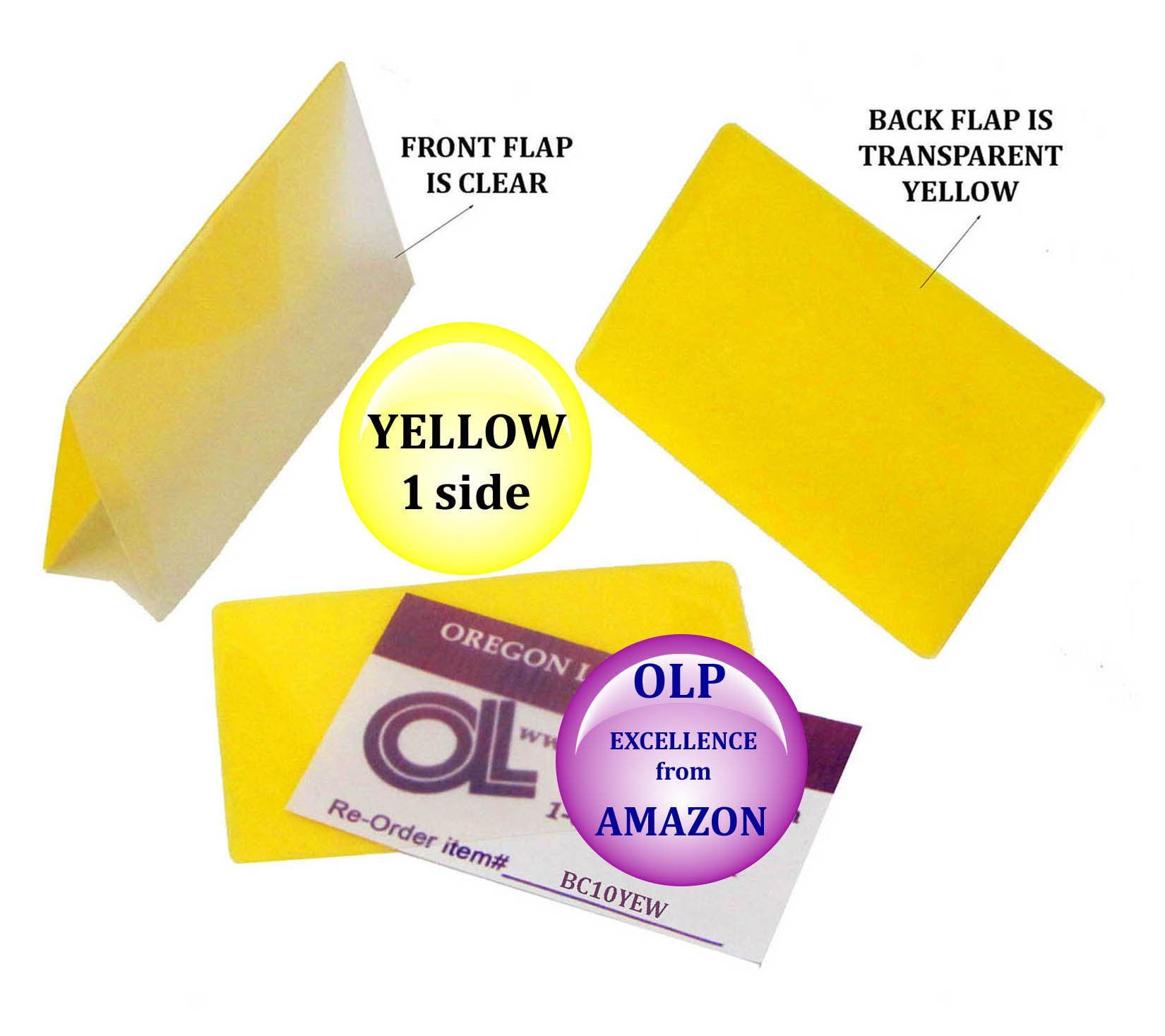 Qty 5000 Yellow/Clear Business Card Laminating Pouches 2.25 x 3.75 ...
