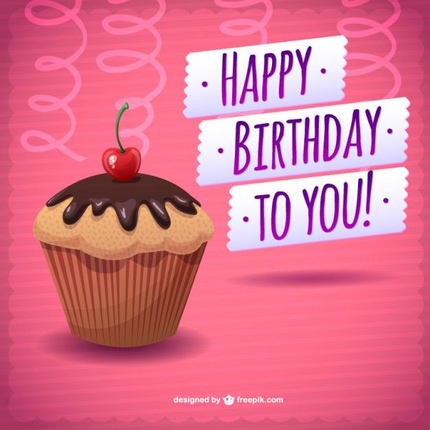 1000 images about Cupcake – Happy Birthday Card Template Free Download