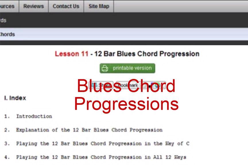 How To Play Blues Chord Progressions At Httpzebrakeys
