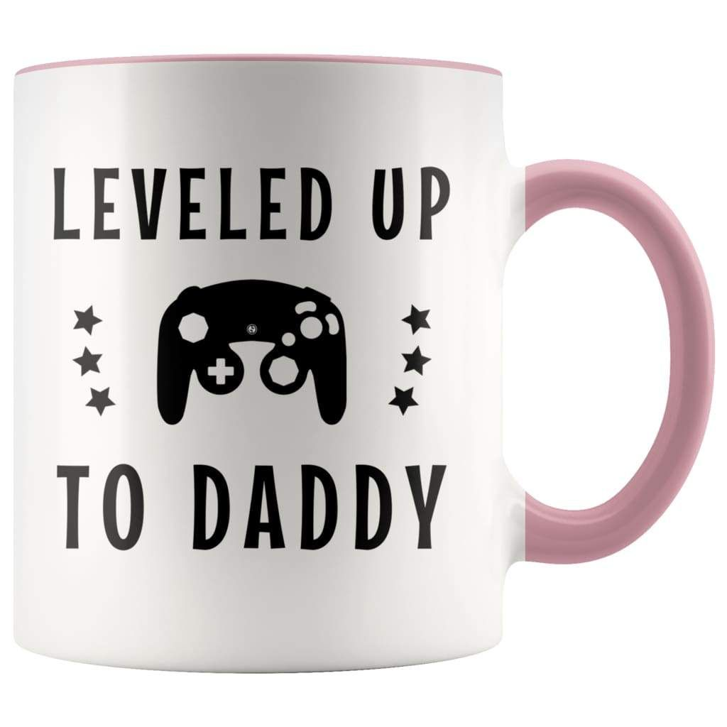 First Time Dad Gift | Leveled Up To Daddy Coffee Mug ...