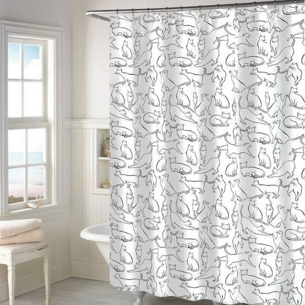 Cats Shower Curtain In White Bed Bath Beyond 30 Liked On