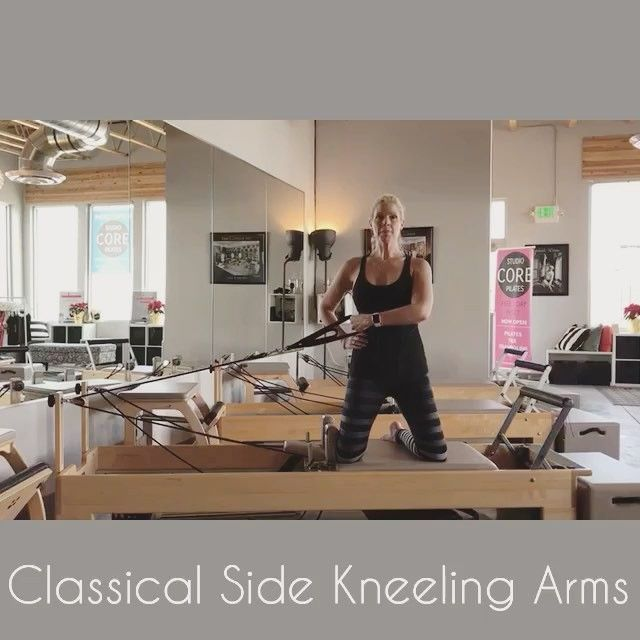 """366 Likes, 8 Comments - Tiffany Crosswhite Burke (@poiseandstrengthpilates) on Instagram: """"Side Kneeling Arm Series is from the classical repertoire on the reformer and on page 32 of our…"""""""
