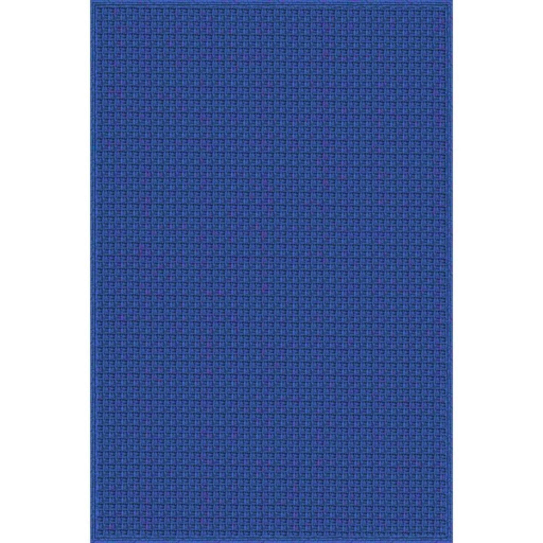 5 x 7 5 Latin Suture Colbalt Blue Hand Woven Outdoor Area Throw