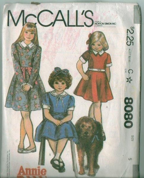 Oop Mccall S Little Orphan Annie Costume Sewing Pattern Annie S
