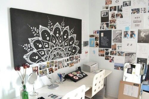 Mandala Canvas Art Room Inspiration Room Decor Tumblr Rooms