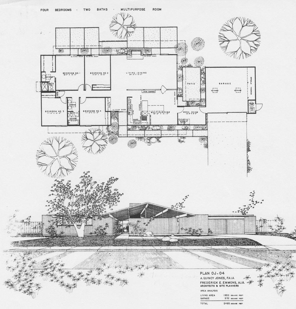 Eichler Floor Plans Fairhills Eichlersocal Mid Century Modern House Plans Eichler Homes Floor Plans