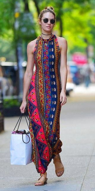 Enthic Sheath Long Dress