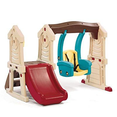 Step2 Toddler Swing And Slide Tan Brown Red Blue Fun Kid Ideas