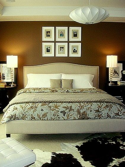 bedroom by Janell Beals - House of Fifty Mag Padded headboard would