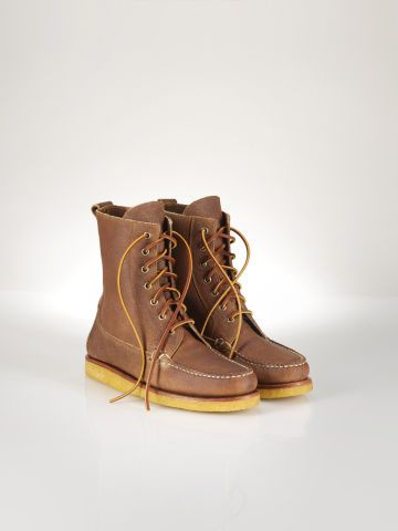 Grained-Leather Vandan Boot - Polo Ralph Lauren Boots - RalphLauren.com