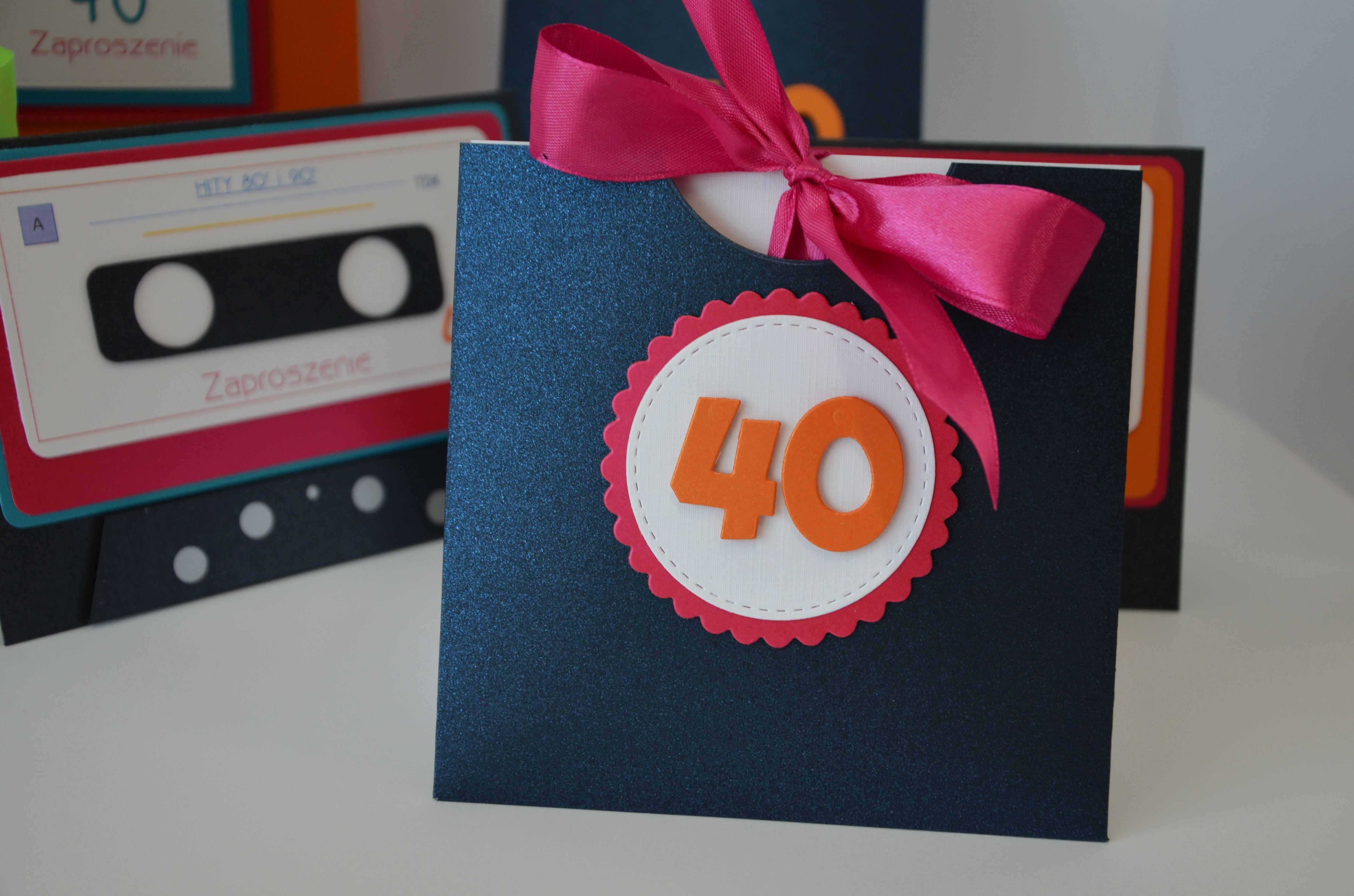 Zaproszenie Na 40 Urodziny Zaproszenie 40 Urodziny Urodziny