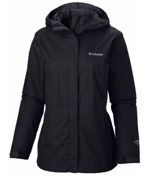 Columbia Womens Arcadia Waterproof Breathable Rain Jacket Coat Black Xs S M L Xl Rain Jacket Women Jackets For Women Hooded Rain Jacket