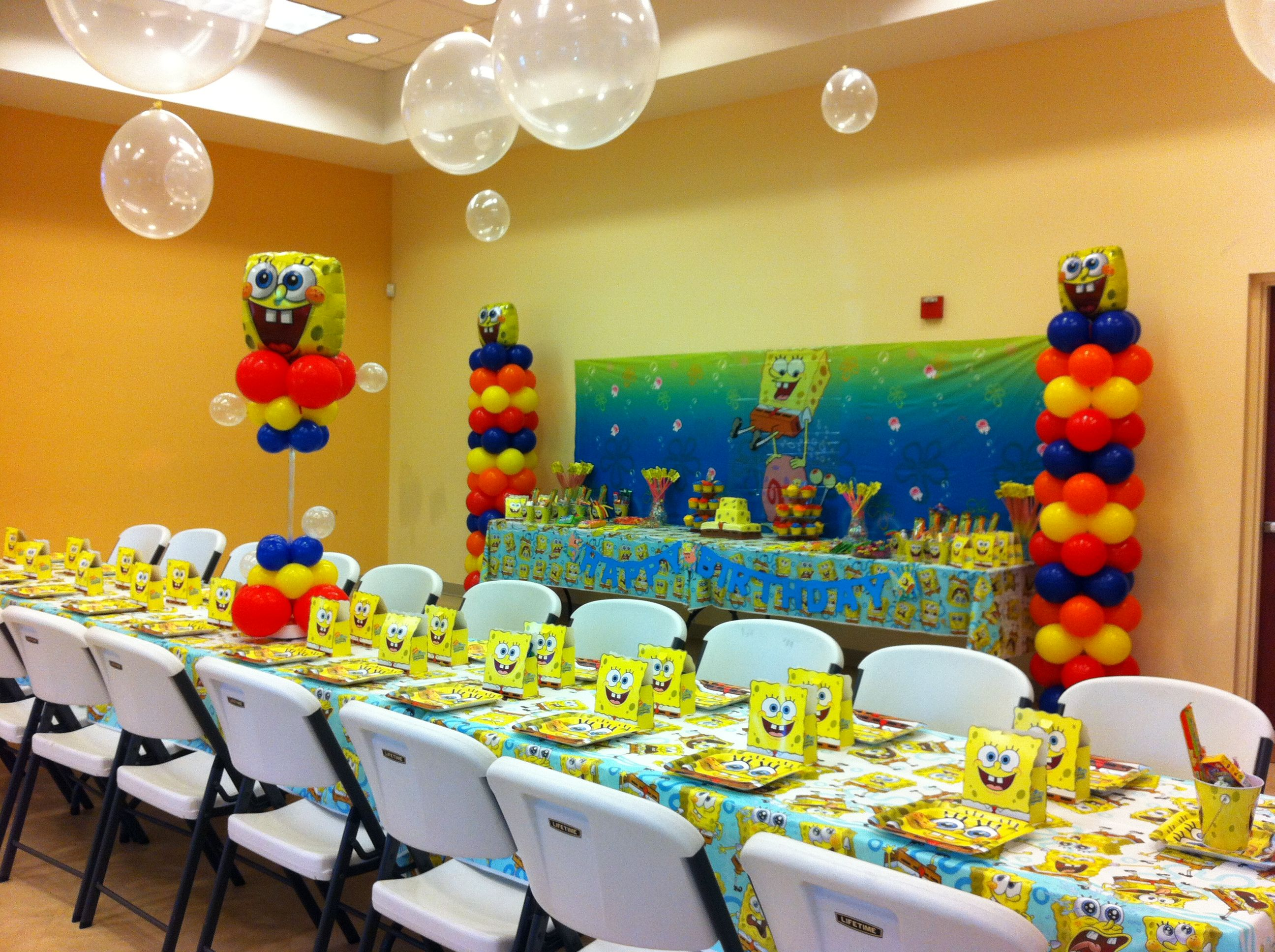 SpongeBob Party love the bubbles!!! | Birthday party ideas ...