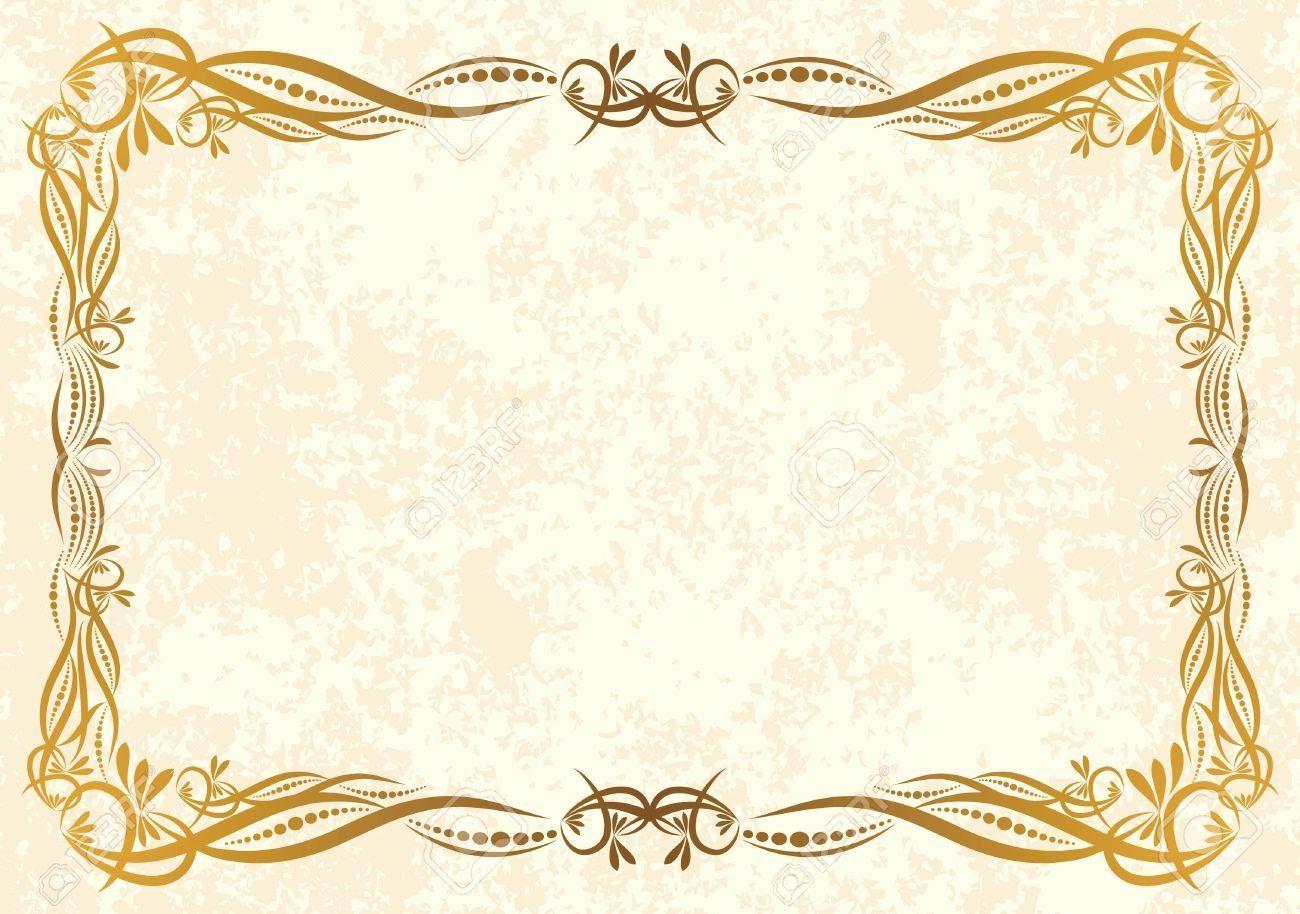 Vintage Marriage Certificate Template Fresh Printable Vintage Background Frame Certificat In 2020 Certificate Design Template Certificate Background Certificate Design