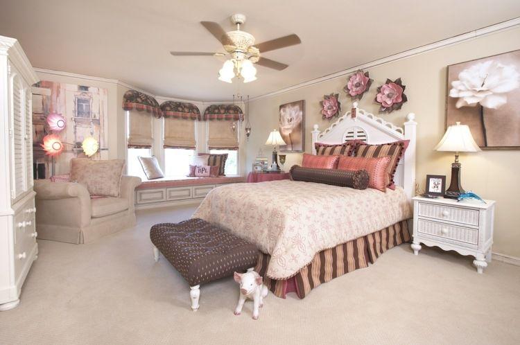Rosa m dchenzimmer mit origineller wanddeko schlafzimmer for Wanddeko jugendzimmer