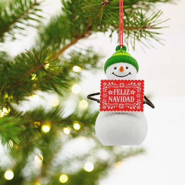 Feliz Navidad Snowman Spanish Language Hallmark Ornament Hallmark Ornaments Christmas Tree Ornaments Christmas Tree Decorations