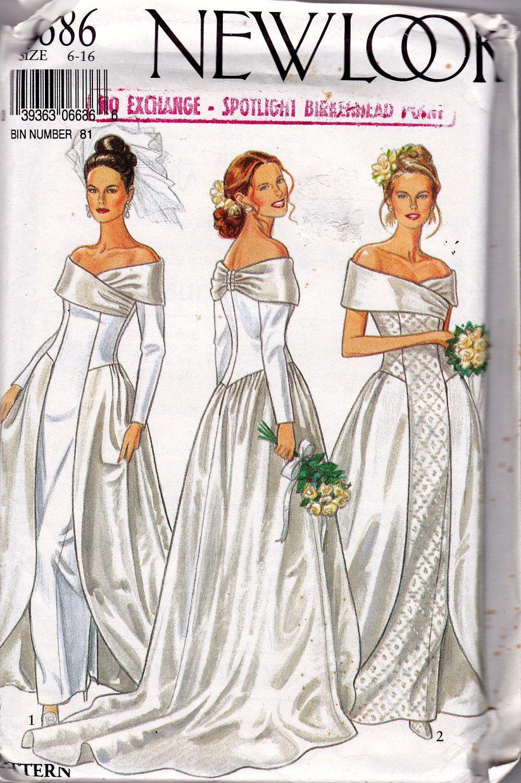 Sewing Pattern New Look 6686 Wedding Dresses Vintage