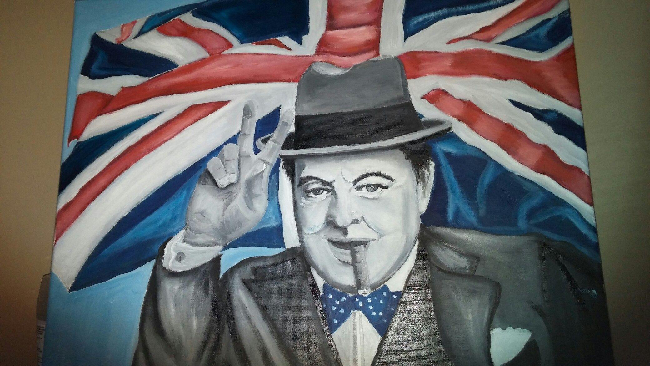 Churchill in oil