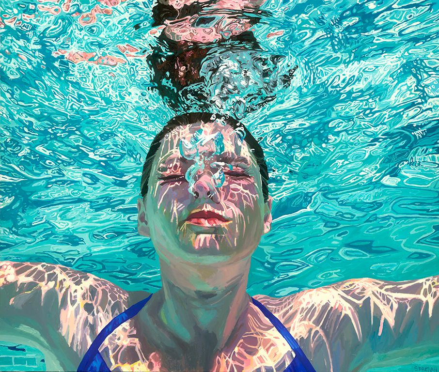 Rise up | Underwater painting, Underwater portrait, Painting