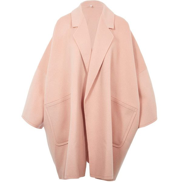 Helmut Lang Light Pink Oversized Wool Coat Wool Coat Outfit Light Pink Coat Pink Wool Coat